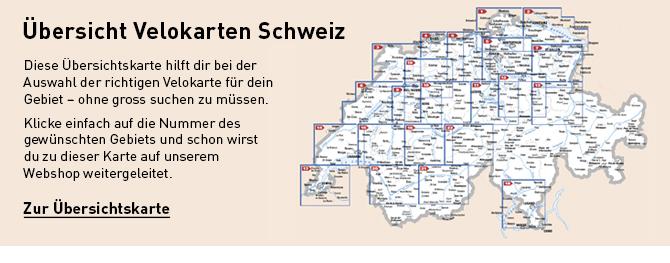 Übersicht Velokarten Schweiz
