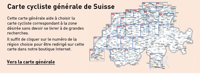 Carte cycliste générale de Suisse